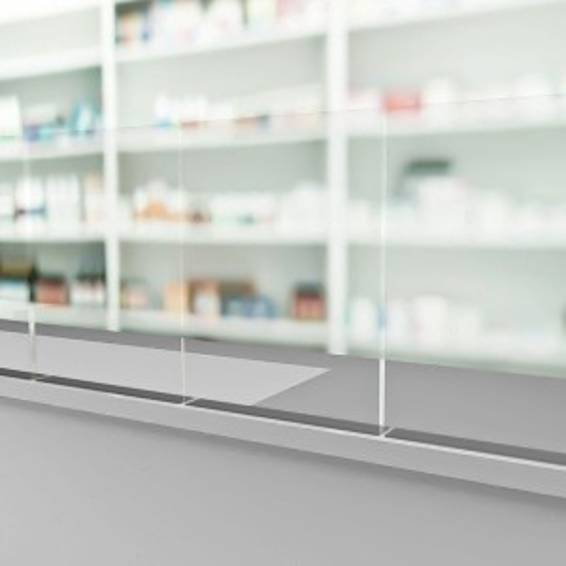 Mampara adhesiva / atornillada Protección frontal-20%