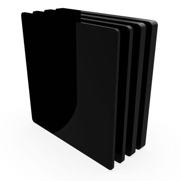 Metacrilato negro brillo Planchas de metacrilato