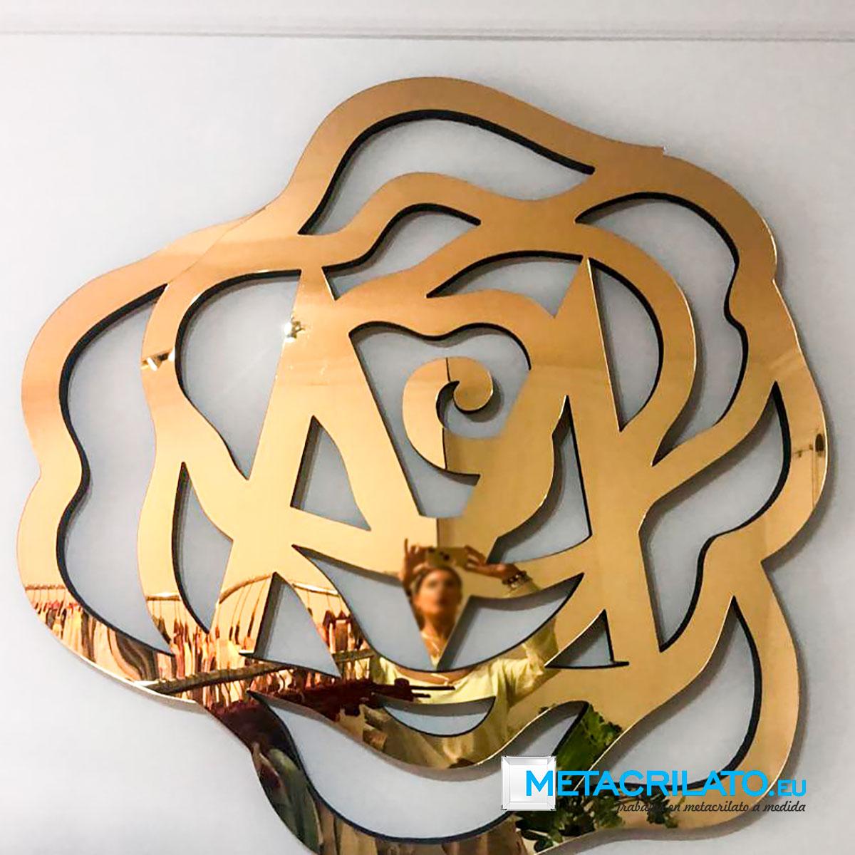 Metacrilato espejo oro