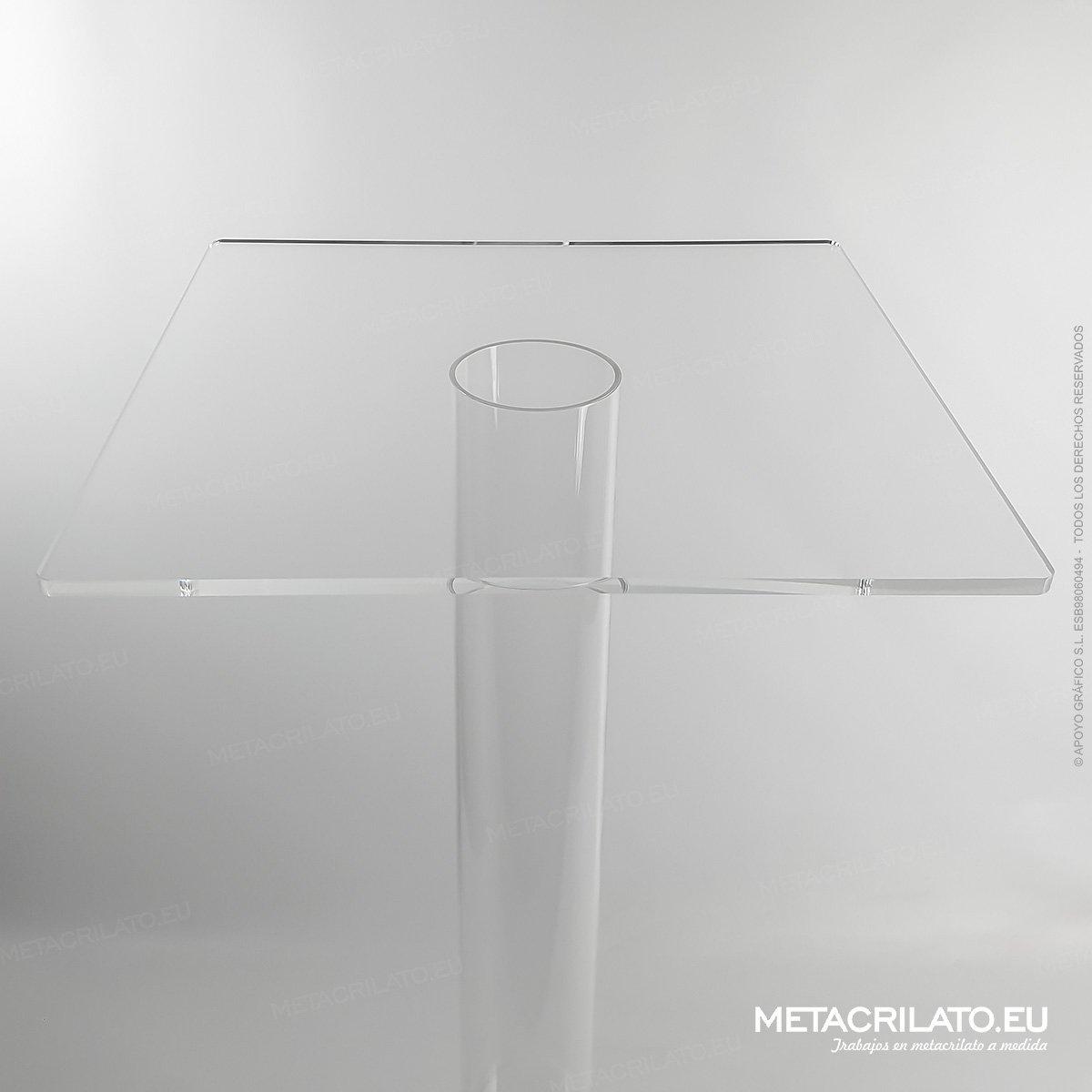 tubo de metacrilato